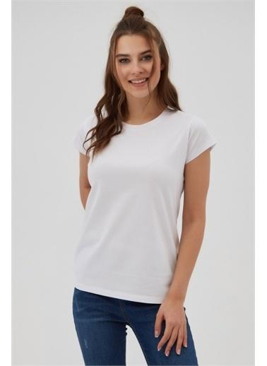 Pattaya Pattaya Kadın Basic Kısa Kollu Tişört P21S201-2196 Renkli